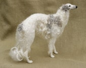 Reserved for Pam - final payment - Needle felted Borzoi