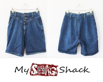 Vintage 80s high rise Jean Shorts Size 7 by Radiation