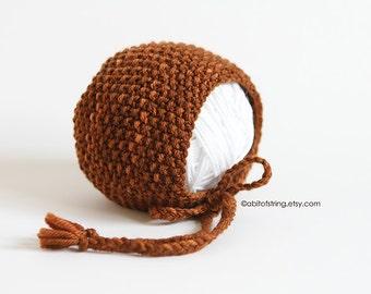READY TO SHIP Newborn Bonnet