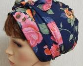 Bad hair day head wrap, sleeping head wear, women's head scarf, Jewish head covering tichel, hair snood bandanna, hair wrap cap