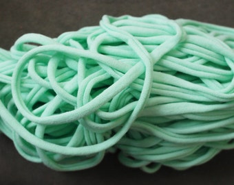 Mint Green Jersey Tee Shirt Trapillo Yarn from Designs by DEwaltz