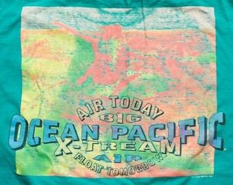 OP Ocean Pacific T-Shirt, Big X-Tream Air, Vintage 90s Surfwear