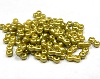 6mm Infinity Beads Pastel Lime 5g Czech Glass 36INFPasLime