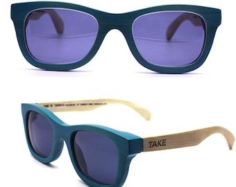 TAKEMOTO bamboo MJX1055 C0601 handmade prescription sunglasses  eyeglasses