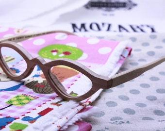 TAKEMOTO olive wood  reading glasses prescription eyeglasses  customize MJX1203