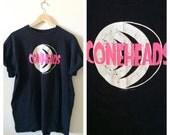 Vintage CONEHEADS T Shirt- XL, 90s Black Retro Tee, 1993 Hipster Sci Fi Geekery, Nerd