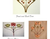 """Dana's Custom Linen Curtains with """"Arts and Crafts""""  Embroidery"""