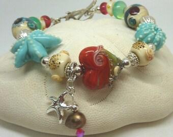 Lampwork Bracelet SEASHORE
