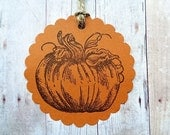 Pumpkin Tags Rustic Thanksgiving Autumn Fall Harvest