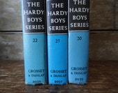 Vintage Hardy Boys Book Set of 3 Number 20's Various Years