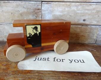 Vintage Wood Bank Fire Fighter or Milkman