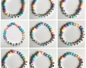 Pastel heart bracelet - Ugh, Not today, Fuck it, Feminist, Lucky Bitch, Love yourself, Bitch Please, Shit happens, Not your babe
