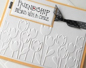 Friendship Greeting Cards:  Handmade Blank Note Card - Friendship Begins