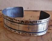 Sterling Silver Cuff Bracelet, Mens or Womens Sterling Silver Cuff Bracelet, Artisan Hand Crafted Jewelry, Silver Bracelet