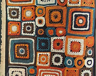 Vintage 1973 Woman's Day Granny Squares Magazine, 60 Designs, Crochet Patterns for Afghans, Vests, Hats, Shawls, Table Covers, Skirts