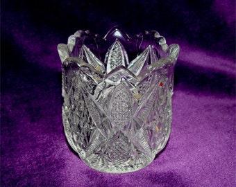 PENNSYLVANIA Pattern Glass 1898 EAPG ToothPick Holder Crystal Glass