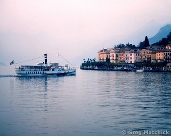 """Fine Art Color Photography of Lake Como Landscape - """"Ferry to Bellagio"""" (Italy)"""