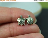 ON SALE Stud Earrings, Sterling Silver Sea Turtle Stud Earrings, Sea Turtle Jewelry, Sea Inspired Jewelry