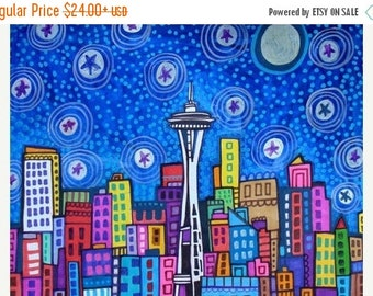 65% off- Seattle art Art Print Poster by Heather Galler (HG827)