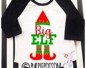 Big Sister Brother to Be Christmas Pregnancy Announcement Shirt Big Sister Christmas Theme Raglan Shirt Big Sister Surprise Shirt Christmas