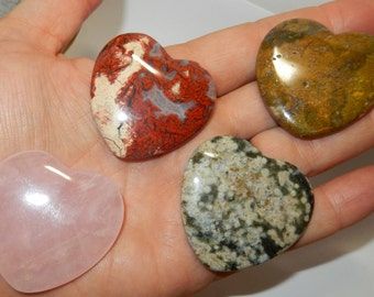 Flat Polished Stone Heart