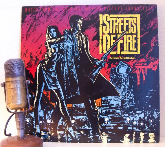 "80s Music Vinyl Record LP Original Motion Picture Soundtrack 1980s Pop ""Streets of Fire"" (Original 1984 MCA w/""I Can Dream About You"")"