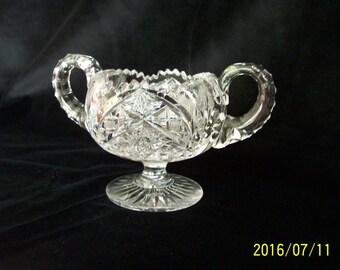 Brilliant cut glass sugar bowl