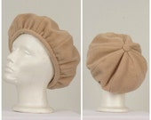 light brown ladies tam vintage tan slouchy large fleece winter hat beret