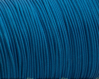 Waxed polyester cord - royal blue cord 1.2mm - 10m - WPC18