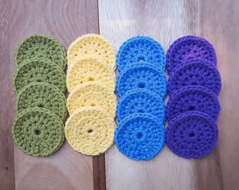 Made-to-Order 4-Color Cotton Face Scrubbies