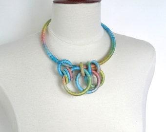 Textile Collar Necklace Buttercup