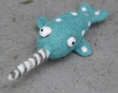 Needle felting Narwhal, Felt Wool Animal, Felting Kit Material DIY