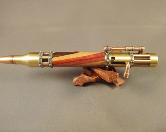 Steampunk - Bolt Action Pen - Laminated Wood Body
