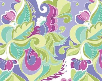 Riley Blake Designs Fabric Extravaganza Floral Purple Fabric - 1 yard