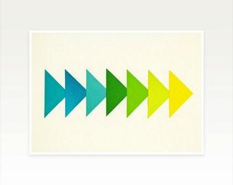 Modern Geometric Art, Minimalist Arrow Print - Arrows I