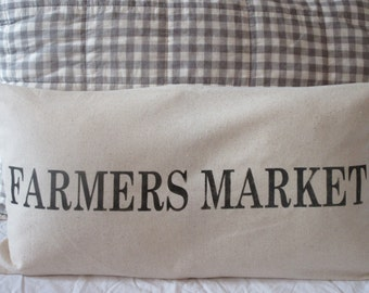 Farmers Market Pillow Cover