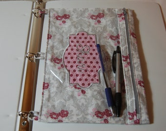 Monogrammed 3-ring Pencil Pouch