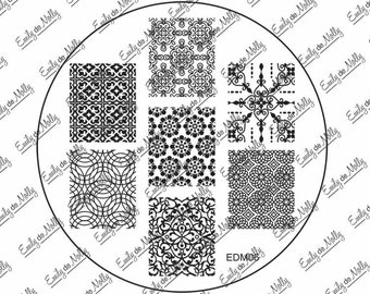 Nail stamping plate - EDM06