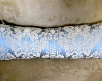 Pillow #1313,  Beautiful Brocade Small Pillow, Small Pillow, Stuff Pillow, Brocade Pillow, Blue Pillow, Pillows, Couch Pillow, Chair Pillow,