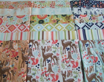 Woodland Friends Fabric Fat Quarter Bundle Riley Blake Designs