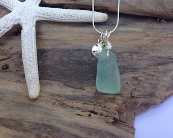 Lake Erie Beach Necklace - Sea Glass Pendant - Erie Beach Glass - FREE Shipping inside the United States