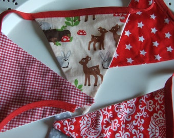 Woodland Bunting, Home Decor, Party Decor, Garland, Homeschool, Nursery Boy Girl Teen Gift Bedroom Decoration