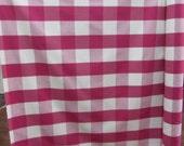 BUFFALO CHECK Woven Raspberry, drapery/bedding/upholstery fabric