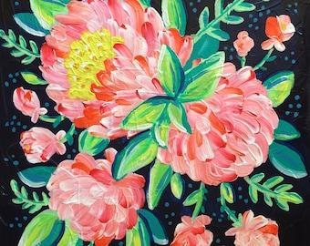 OOAK Original Floral Painting