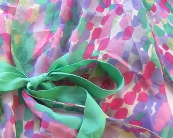 Beautiful Chiffon Mackie blouse vintage silk wrap