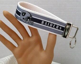 Key fob, key wristlet,key holder, keys, key chain, key holder, keys, house keys, house key holder, NFL Oakland Raiders