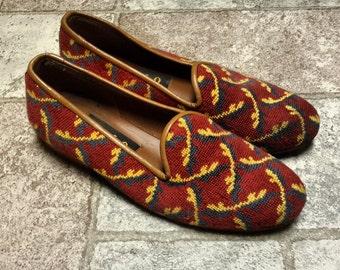 Zalo ladies needlepoint loafers size 7