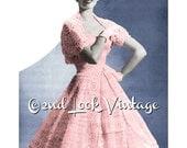 Vintage Crochet Pattern 1950s Full Circle Skirt and Shrug Digital Download PDF