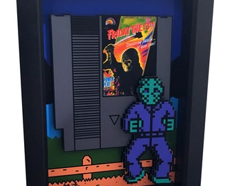 Friday the 13th Nintendo Game Nes 3D Art Jason Voorhees Mask Artwork