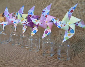 Party Favors Paper Pinwheels Rainbow Favors Cupcake Toppers Pinwheels Birthday Party Favors Baby Shower Favors Birthday Decoration Wedding